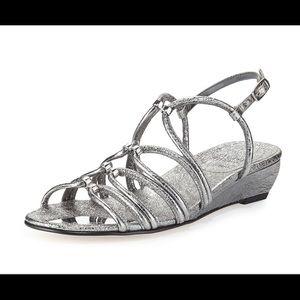 Stuart Weitzman iron foil sandal size 8.5
